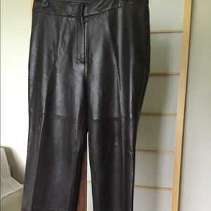 MAX MARA 12 Genuine Leather Pants